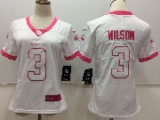 Women Nfl Seattle Seahawks #3 Russell Wilson White Vapor Untouchable Limited Jersey