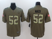 Mens Nfl Oakland Raiders #52 Khalil Mack Green 2017 Olive Salute To Service Limited Camo Number Jersey