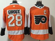 Mens Philadelphia Flyers #28 Claude Giroux Orange Adidas Jersey