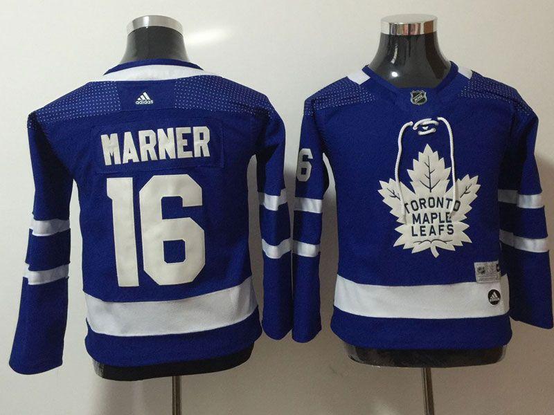 Youth Women Nhl Toronto Maple Leafs #16 Mitchell Marner Blue Hockey Adidas Jersey