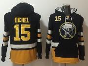 Mens Nhl Buffalo Sabres #15 Jack Eichel  Dark Blue One Front Pocket Hoodie Jersey