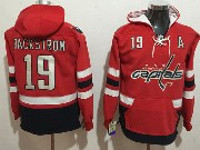 Mens Nhl Washington Capitals #19 Backstrom Red One Front Pocket Hoodie Jersey
