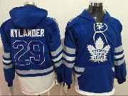 Mens Nhl Toronto Maple Leafs #29 William Nylander Blue One Front Pocket Hoodie Jersey