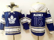 Mens Reebok Nhl Toronto Maple Leafs #16 Mitchell Marner Blue Hoodie