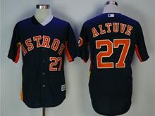 Mens Mlb Houston Astros #27 Jose Altuve Dark Blue Cool Base Jersey