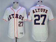 Mens Mlb Houston Astros #27 Jose Altuve White Cool Base Jersey
