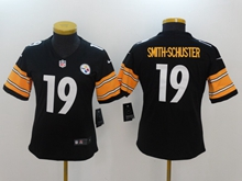 Women Nfl Pittsburgh Steelers #19 Smith-schuster Black Vapor Untouchable Limited Jersey