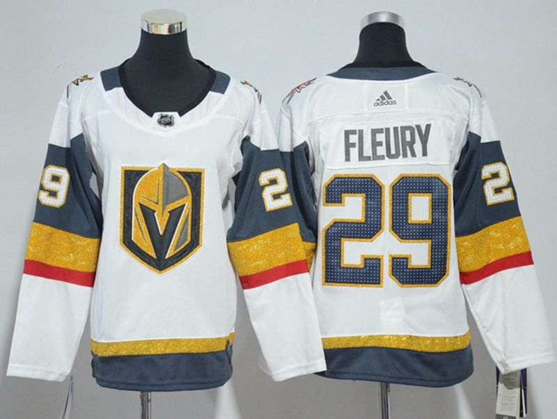 Youth Vegas Golden Knights #29 Marc-andre Fleury White Hockey Adidas Jersey