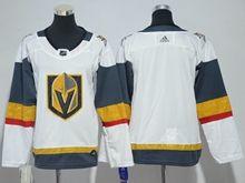 Youth Vegas Golden Knights Blank White Hockey Adidas Jersey