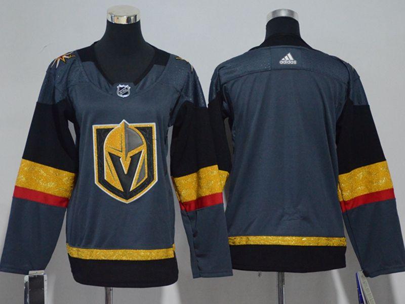 Youth Vegas Golden Knights Blank Gray Hockey Adidas Jersey