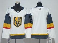 Women Vegas Golden Knights Blank White Hockey Adidas Jersey