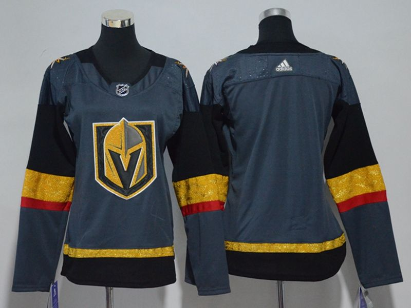 Women Vegas Golden Knights Blank Gray Hockey Adidas Jersey