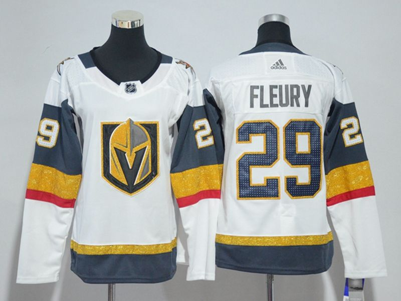 Women Vegas Golden Knights #29 Marc-andre Fleury White Hockey Adidas Jersey