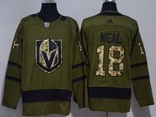 Mens Vegas Golden Knights #18 James Neal Green Hockey Adidas Jersey
