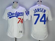 Women Mlb Los Angeles Dodgers #74 Kenley Jansen White Flex Base Jersey