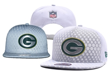 Mens Green Bay Packers White Snapback Hats