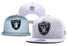 Mens Nfl Oakland Raiders White Snapback Hats