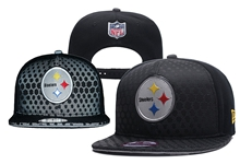 Mens Nfl Pittsburgh Steelers Black Snapback Hats