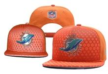 Mens Nfl Miami Dolphins Orange Snapback Hats