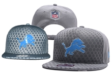 Mens Nfl Detroit Lions Gray Snapback Hats