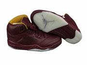 Mens Aj5 Basketball Shoes Red Wine Clour