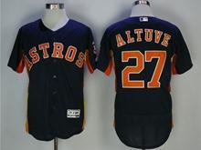 Youth Mlb Houston Astros #27 Jose Altuve Dark Blue Jersey