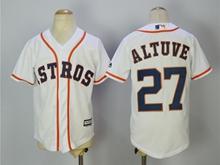 Youth Mlb Houston Astros #27 Jose Altuve White Jersey