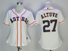 Women Mens Mlb Houston Astros #27 Jose Altuve White Jersey