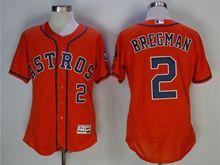 Mens Mlb Houston Astros #2 Alex Bregman Orange Jersey
