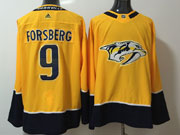 Mens Nhl Nashville Predators #9 Filip Forsberg Yellow Adidas Jersey