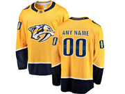 Mens Nhl Nashville Predators Custom Made Yellow Adidas Jersey