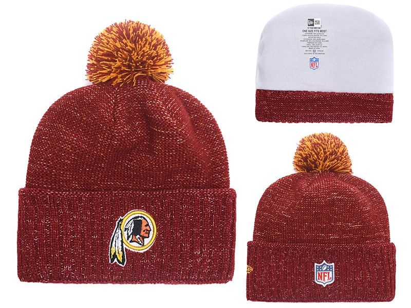 Mens Nfl Washington Redskins Beanies Red Hats Pom On Top