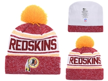 Mens Nfl Washington Redskins Beanies White And Red Hats Pom On Top
