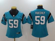 Women Nfl Carolina Panthers #59 Luke Kuechly Blue Vapor Untouchable Jersey