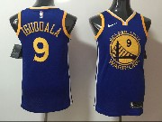 Mens Nba Golden State Warriors #9 Iguodala Blue Nike Jersey
