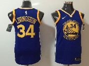 Mens Nba Golden State Warriors #34 Shaun Livingston Blue Nike Jersey