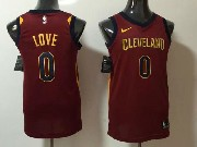 Mens Nba Cleveland Cavaliers #0 Kevin Love Red Nike Jersey