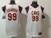 Mens Nba Cleveland Cavaliers #99 Jae Crowder White Nike Jersey