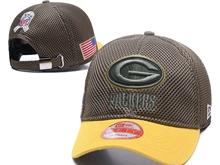 Mens Green Bay Packers Black Peaked Caps