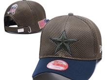 Mens Dallas Cowboys Black Peaked Caps