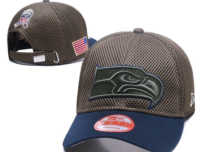 Mens Seattle Seahawks Black Peaked Caps