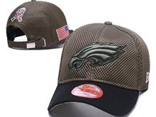 Mens Philadelphia Eagles Black Peaked Caps