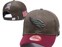 Mens Arizona Cardinals Black Peaked Caps
