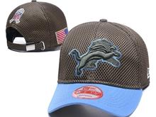 Mens Nfl Detroit Lions Black Peaked Caps