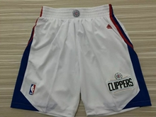 Mens Nba Los Angeles Clipper White 2015 Shorts
