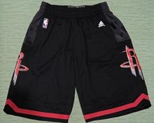 Mens Nba Houston Rockets Black Shorts