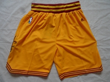 Mens Nba Cleveland Cavaliers Yellow New Shorts