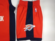 Mens Nba Oklahoma City Thunder Red Shorts
