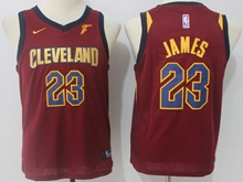 Youth Nba Cleveland Cavaliers #23 Lebron James Red Swingman Nike Jersey