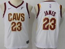 Youth Nba Cleveland Cavaliers #23 Lebron James White Swingman Nike Jersey